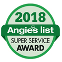 Angie's List Super Service Contractor Award 2014, 2015, 2016, 2017 & 2018
